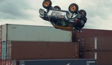 Guerlain Chicherit attempted the first-ever unassisted backflip in a tuned-out version of a Mini Cooper.