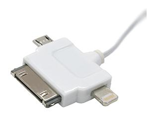3in1シンク充電リトラクタブルケーブル for Apple Lightning / Apple Dock / microUSB