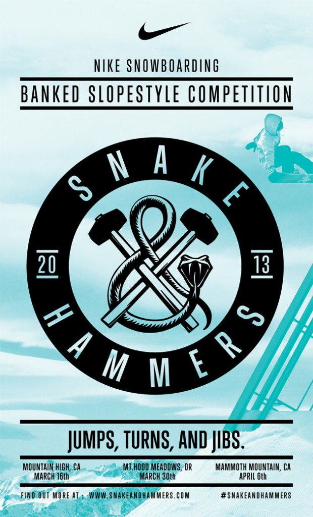 NIKE主催スノーボード大会「SNAKES & HAMMERS」