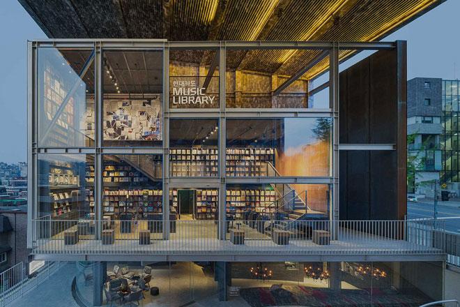 【韓国】クレジットカード会社がレコード10,000枚を所蔵した図書館をオープン