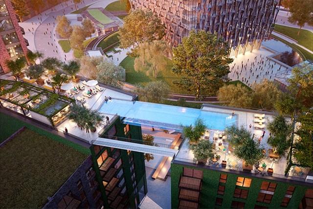 不動産高騰が加速するロンドンに空中プール付き集合住宅が誕生!