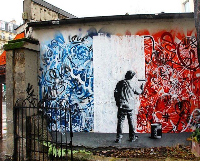 【同時多発アート】テロ発生後、世界中のストリートアーティスト達がSNSで作品を発表