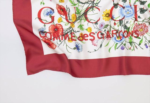 Gucci x COMME des GARÇONS コラボレーションスカーフ