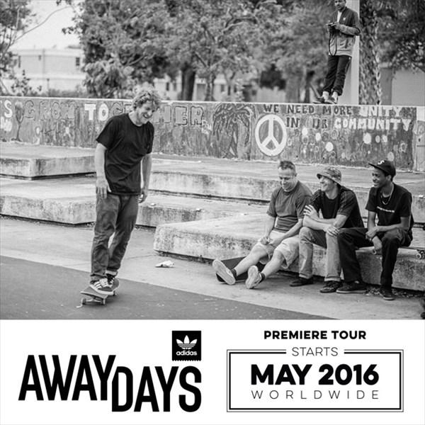 3年間かけて90以上の都市で撮影されたadidas Skateboarding新作ビデオ『Away Days』トレーラー公開